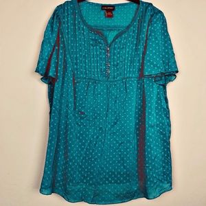 Lane Bryant Swiss Dot Blouse 18/20